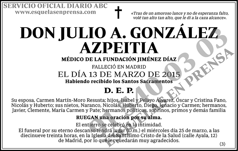 Julio A. González Azpeitia